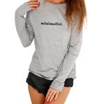 Minimalist Grey Long Sleeve