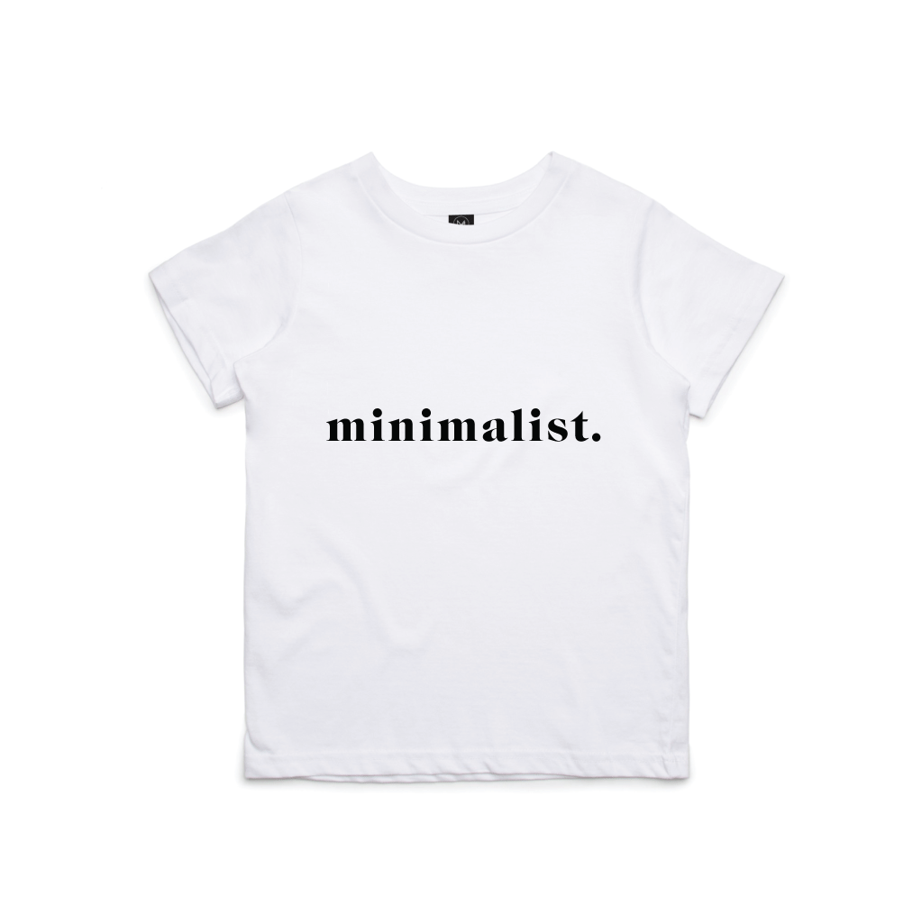 Mini Minimalist White Tee