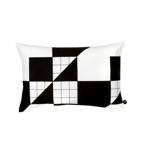 Design Ministry black and white Cross Grid Pillowcases - New Zealand Made
