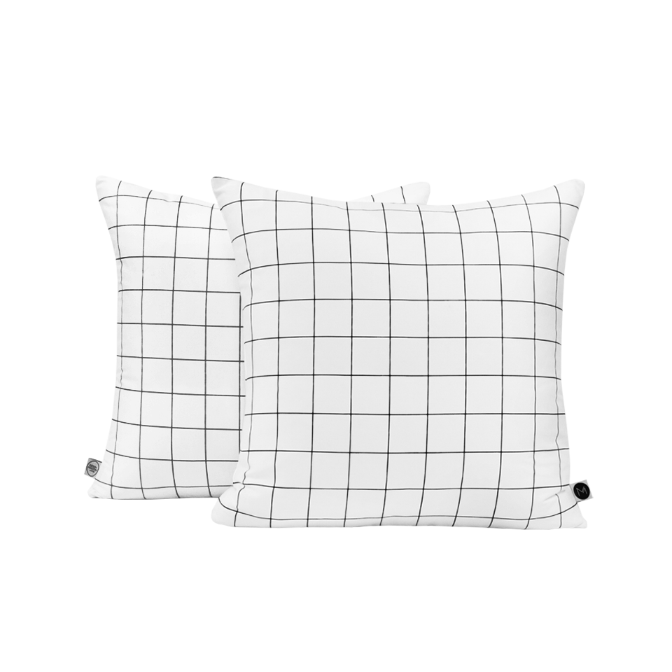 Black Grid Cushion