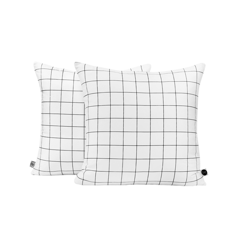 BLACK & BLACK GRID CUSHION