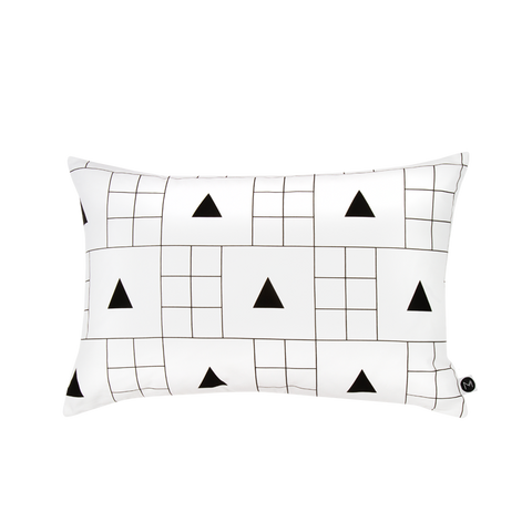 Design Ministry black and white Triangle Grid Pillowcases - New Zealand Made
