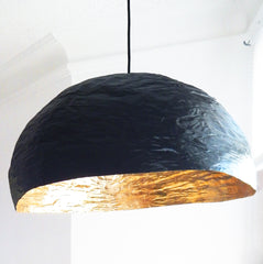Grande PM - Luminaire noir et or /diamètre 70 cm * Big PM - black and gold light / 28'' diameter