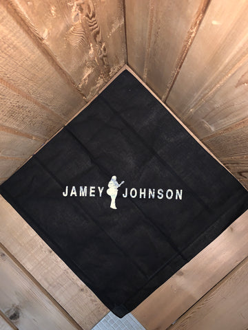 Jamey Johnson Black Logo Bandana