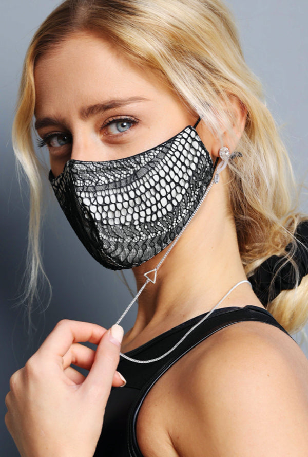 Laced Mask Black