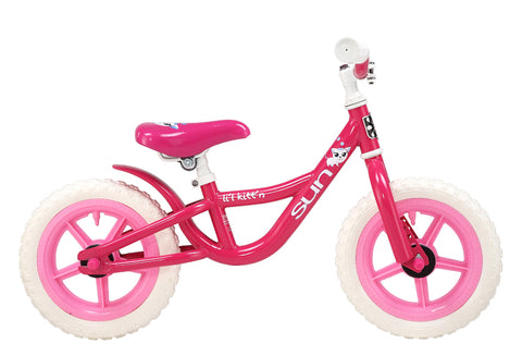 "Sun Bicycles Balance Bike Lil Kittn 12"" Fits 2-3 years old or 2'10-3'4"""