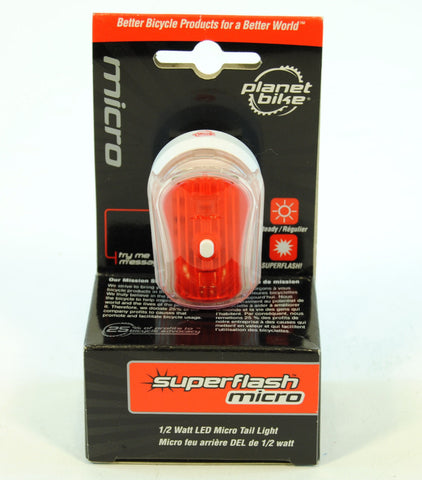 Planet Bike Bicycle Blinky Superflash Micro Rear Light Black