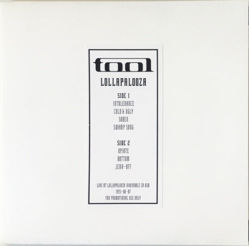 TOOL - LIVE AT LOLLAPALOOZA 1993 LP