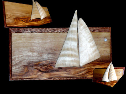 "Sculpture ""Sailboat Plaque"""