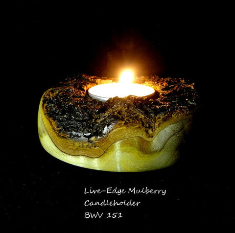 Live-Edge Mulberry Candleholder
