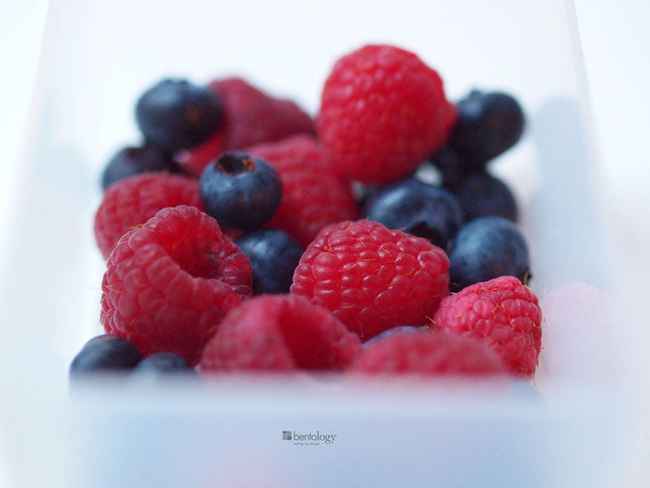 bentology, bento, laptop, lunches, lunch, box, boxes, containers, ideas, laptop lunches, healthy, nutritious, storage, fridge, berries, raspberries, blueberries, open, wash, dried