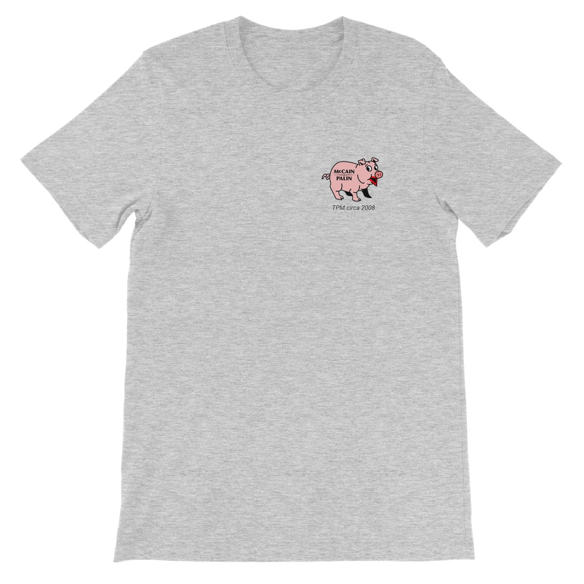 Throwback: lipstick on a pig Unisex Short Sleeve T-Shirt
