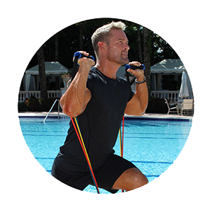 Legs Exercise With Resistance Bands