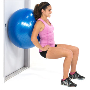Wall Squat With Exercise Stability Ball