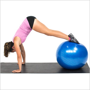 Pike Ups With Exercise Stability Ball