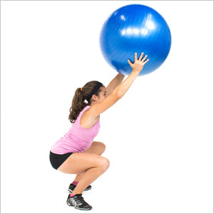 Overhead Squat With Exercise Stability Ball