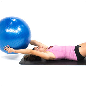 Abs Crunch Ball Pass With Exercise Stability Ball
