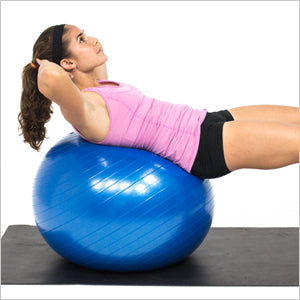Ab Crunch With An Exercise Stability Ball
