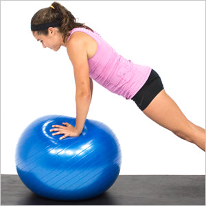 Tricep Extension With An Exercise Stability Ball