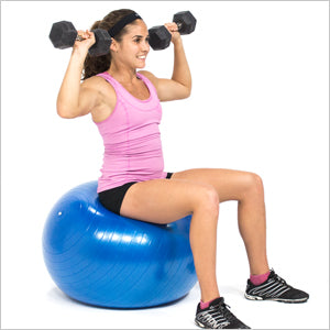 Shoulder Press On Exercise Stability Ball