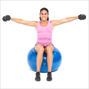 Stability Ball Seated Lateral Raise