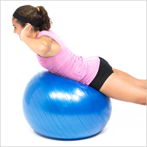 Back Extension With Exercise Stability Ball