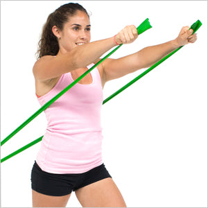 Chest Press With Flat Resistance Bands