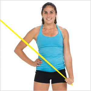 Cross Body Triceps Extensions With Flat Resistance Bands