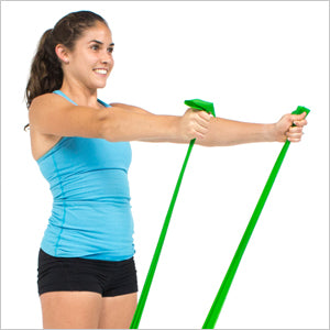 Front Shoulder Raises With Flat Resistance Bands