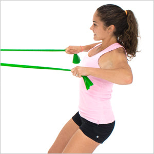 High Rows With Flat Resistance Bands