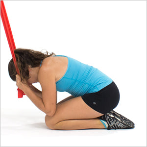 Kneeling Abs Crunch With Flat Resistance Bands