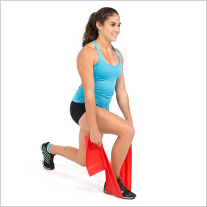 Lunge With Flat Resistance Bands