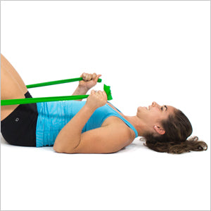 Lying Hammer Curls With Flat Resistance Bands