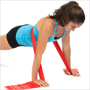 Resisted Pushups With Flat Resistance Bands