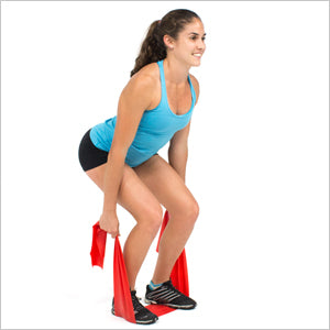 Squats With Flat Resistance Bands