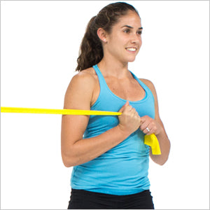 Standing Abs Twist With Flat Resistance Bands