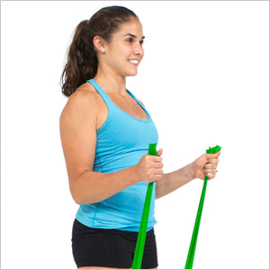 Hammer Curls With Flat Resistance Bands