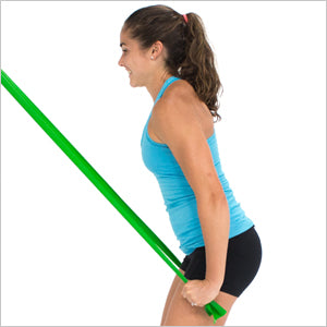 Standing Triceps Extensions With Flat Resistance Bands
