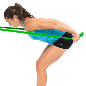 Triceps Kickbacks With Flat Resistance Bands