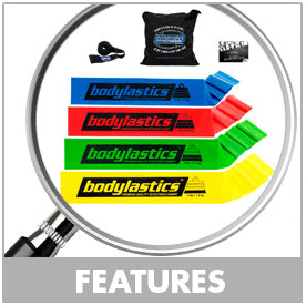 Flat Resistance Bands By Bodylastics