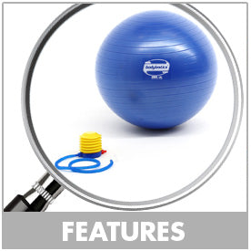 Exercise Stability Ball Features