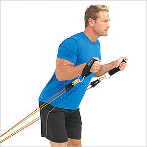Standing Hammer Biceps Curls With Anchor