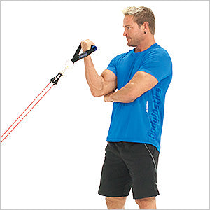 Standing One Arm Preacher Curl With Anchor