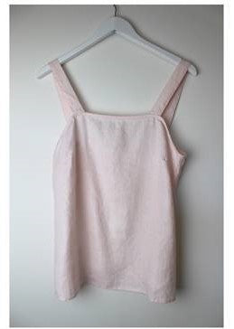 Button Strap Cami      LIGHT PINK