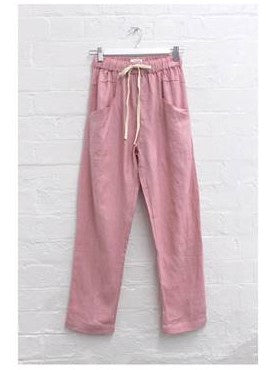 Luxe Ramie Pant      PINK