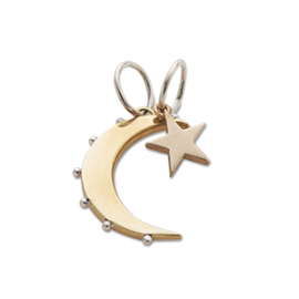 Moon & Star    SILV/ BRASS