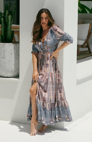 Tessa Dress         CARRIBEAN PRINT