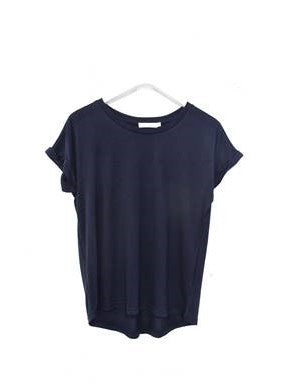 Rolled Sleeve Tee    NAVY BLUE