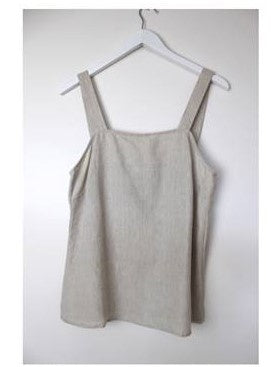 Button Strap Cami        NATURAL