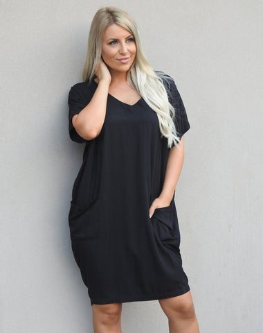 Pocket Dress        BLACK